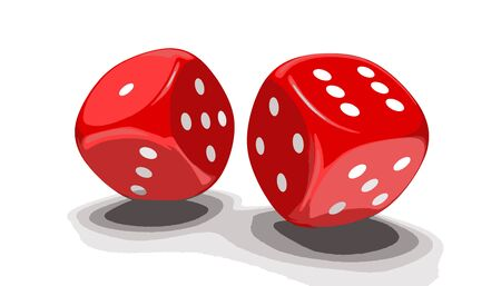 3d image of game dices. Image with clipping path