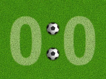 Photo pour Score 0: 0 on the grass - image libre de droit