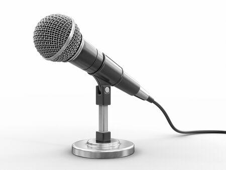 Photo pour Microphone Image with clipping path - image libre de droit