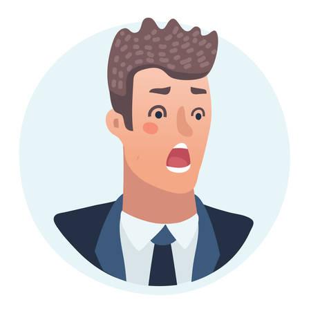 Surprised Men emotions concept vector illustration