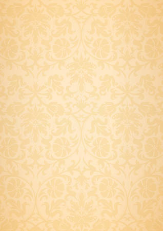 A3 and A4 size beige classic flower pattern wallpaper background