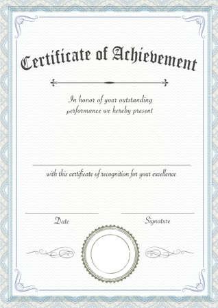 Photo pour A3 international paper size - Vertical classic and retro certificate of achievement paper template, it's ready to use - image libre de droit
