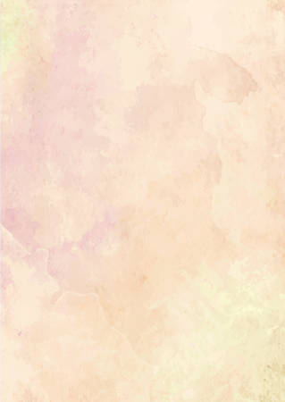Illustration for The pastel orange watercolor ink brush paper background - Royalty Free Image