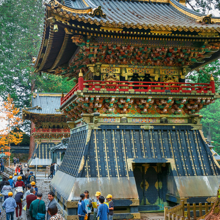 Koro - A drum tower in front of Yomeimon gate of Tosho-gu shrine in Nikko, Tochigi, Japan