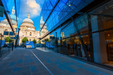 St. Paul's Cathedral in London, UK London, UK - May 15 2018: St Paul's Cathedral founded in 604, the present cathedral dating from late 17th century designed in the English Baroque style by Sir Christopher Wren