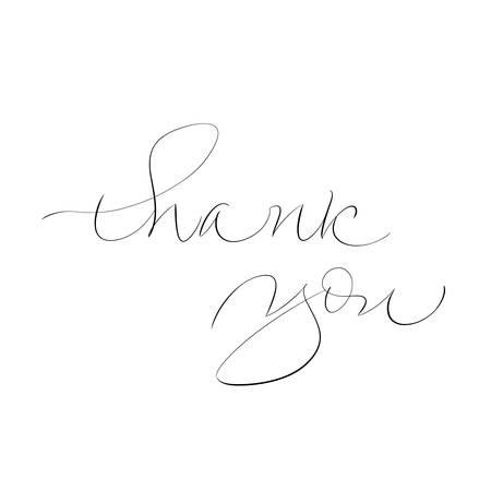 Illustration pour Thank You handwritten inscription calligraphy vector illustration - image libre de droit