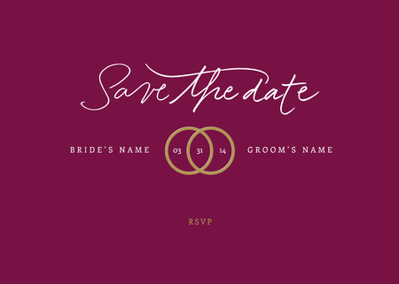 Hand-written Save the Date  EPS vector file  Hi res JPEG included
