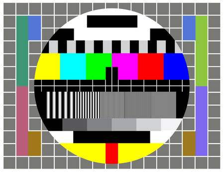Test TV screen when broadcast if off