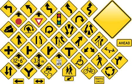 Road Sign Set - Warning