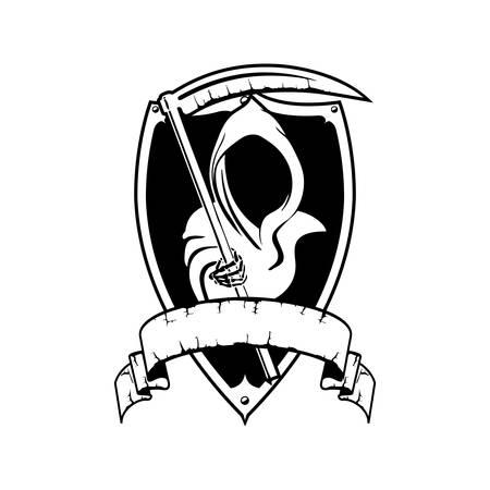 Illustration pour Angel of Death Cartoon Hallowen - image libre de droit