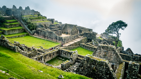 Inca Village in the mountains Peru South America. Very much one of the main tourist attractions and points of interest in the area.