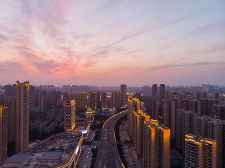 Foto für Wuhan city skyline scenery in Hubei - Lizenzfreies Bild
