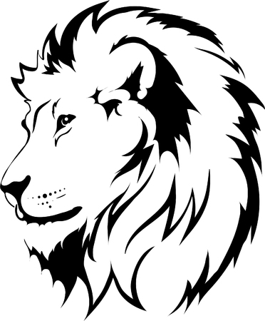 Illustration for Lion head in vector interpretation 16 - Royalty Free Image