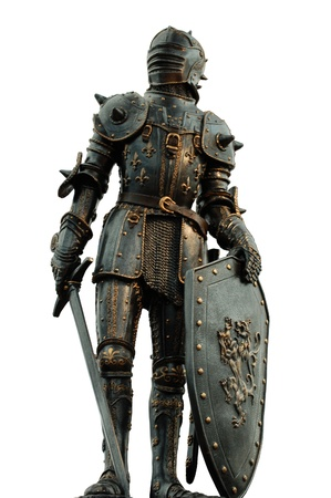 medieval knight with full body armor