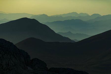 & mountains & sunset mountain range