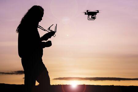 Foto de professional drone flying and special shots - Imagen libre de derechos