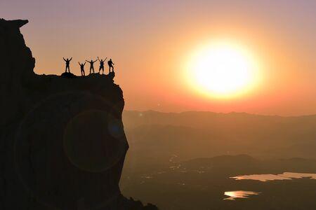 Photo pour team success, career, team spirit and professionalism - image libre de droit