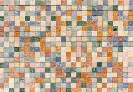 texture formed by tiles of various colors