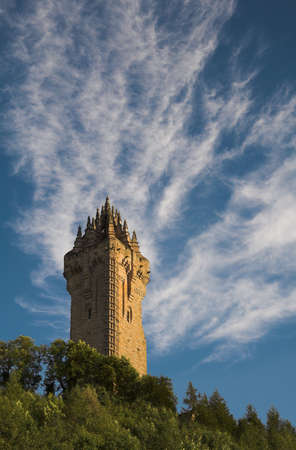 The Wallace Monument occupies a commanding position atop Abbey Craig from where William Wallace led his people's army to victory at Stirling Bridge in 1297.