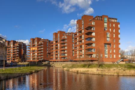 Foto de Retirement apartment condominium complex buildings in the city of Delft, Netherlands - Imagen libre de derechos