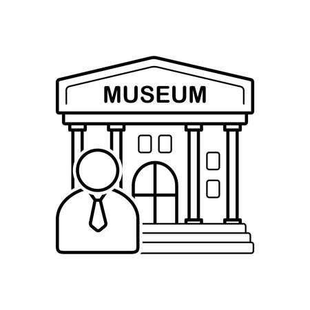 Illustration pour Museum guide  icon - image libre de droit