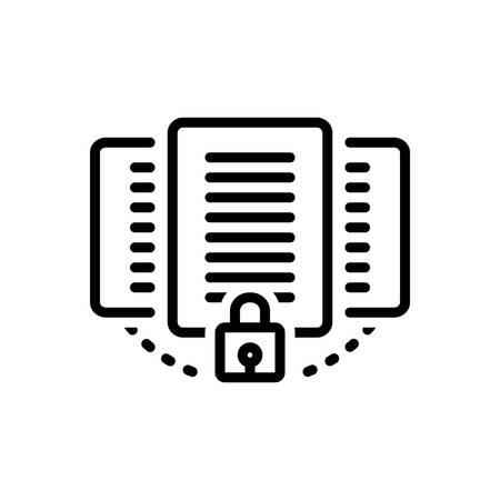 Illustration pour Icon for document,protection - image libre de droit
