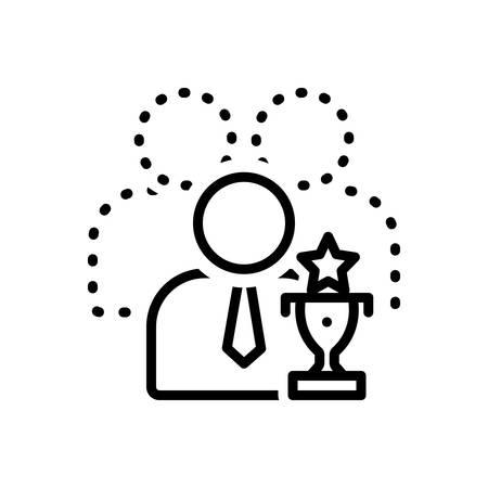 Illustration pour Icon for capable,competent - image libre de droit