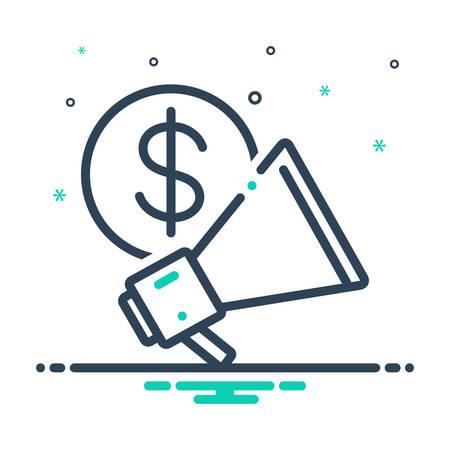 Illustration pour Business advertising icon - image libre de droit