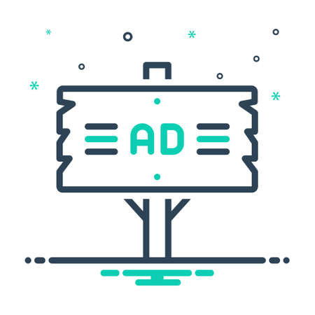 Illustration pour Icon for ad plank,frame - image libre de droit