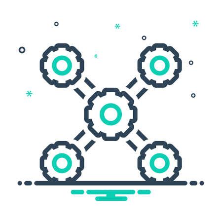 Icon for organization,management