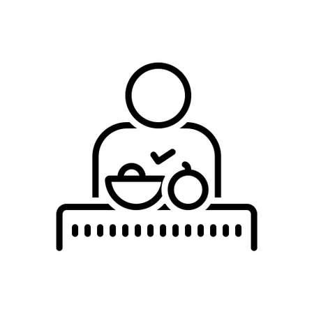 Illustration pour Icon for adequate,sufficient - image libre de droit