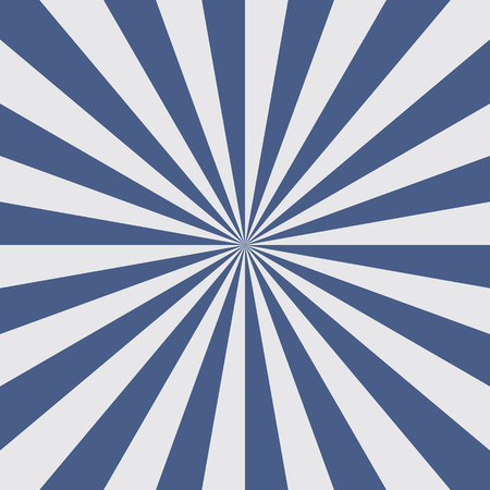 Sun burst background in blue color. Blue rays radiate from the center to the edges of the square. Vector illustration