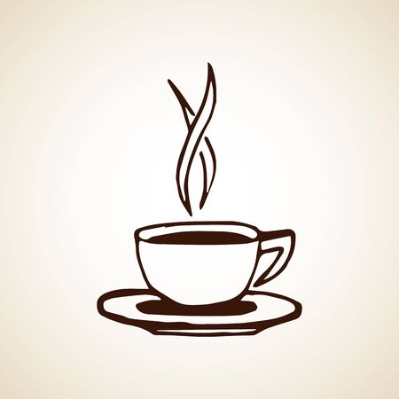 Illustration pour Hand drawn coffee cup. Vector eps8 illustration. - image libre de droit