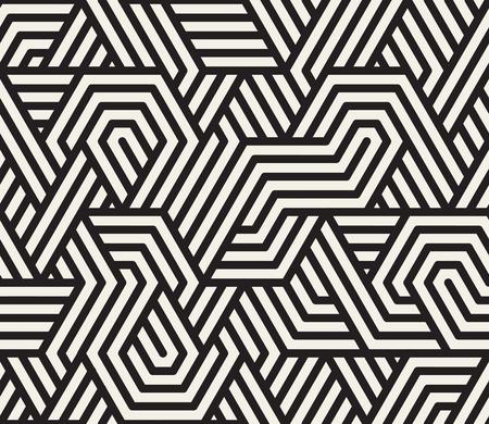 Ilustración de Seamless Black And White Irregular Triangle Lines Geometric Pattern Abstract Background - Imagen libre de derechos