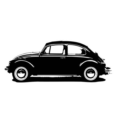 Illustration for beetle car vector - Royalty Free Image