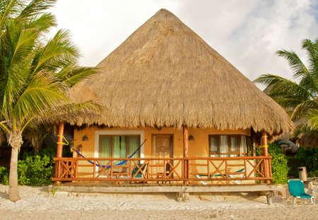 tropical hut on the beach