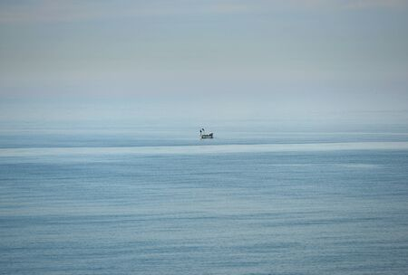 Inshore fishing boat in English Channel