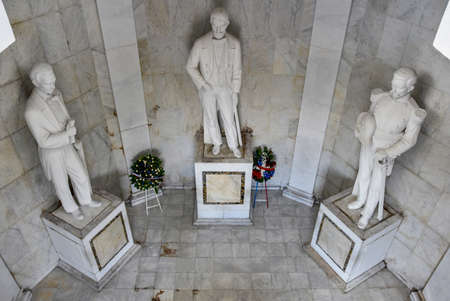 Statues of Altar de la Patria, The Altar of the Homeland. Houses the remains of the founding fathers of the Dominican Republic Duarte, Sanchez, Mella.