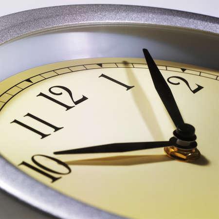 closeup of clock