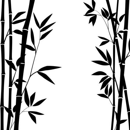 Illustration for bamboo stems and leaves for graphic design. - Royalty Free Image