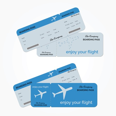 Illustration pour Variant of air ticket isolated on white background. Vector illustration - image libre de droit