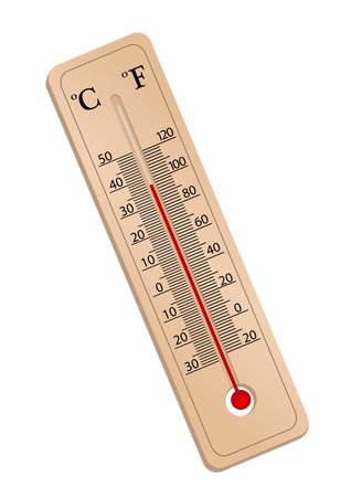 Illustration of a thermometer isolated on white background