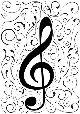 Conceptual illustration of a G clef