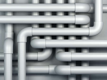 3D pipes abstract