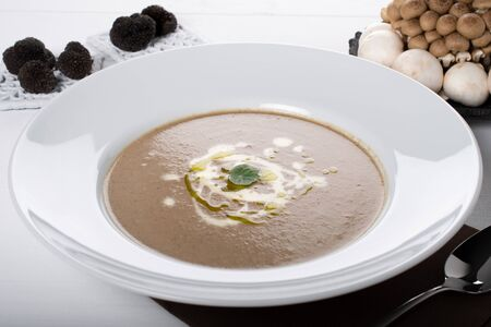 Wild Mushroom italian cream soup. Creamy mushroom soup is such a hearty and warming soup and so good for a winter day; this smooth mushroom soup recipe has intensely earthy flavours