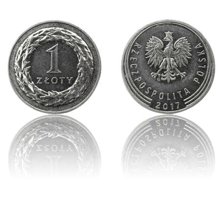 Photo for Polish currency 1 zl coin (PLN or - Royalty Free Image