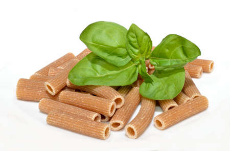 Basil and whole wheat pasta