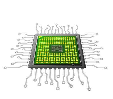 futuristic microchip concept,nano technology