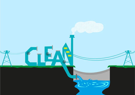 Clean Energy, Water and Environment concept Illustration