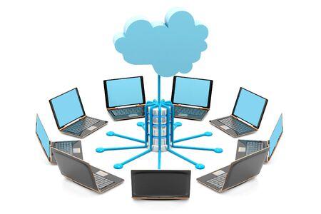 Photo pour Cloud computing.3d render - image libre de droit